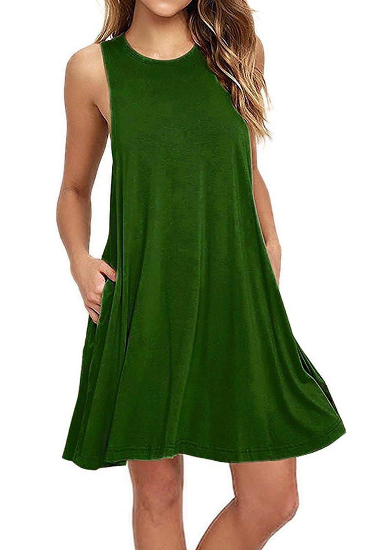 V-toto Vestidos de Mujer, Vestido de Camiseta, Manga Larga O-Cuello Vestido Casual Vestido Suave Vestido Suave y…