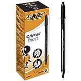 BIC Cristal Exact Bolígrafos Punta Fina (0,7mm) - Negro, Caja de 20Uds.
