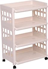 Urbancart Multi Purpose Plastic Trolley Cart/Storage Organizer Shelf/Utility cart