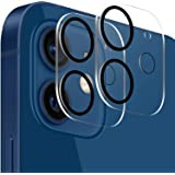 TINICR Kamera pansarglas skyddsfolie för iPhone 12 Mini (5,4 tum) – [2 st] 9H hårdhet kameraskydd reptåligt glasfilm slagtåli