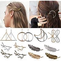 Mollette per capelli, Kapmore 16 pezzi fermagli per capelli,Molletta Capelli,Eleganti Fermaglio per Capelli Geometriche…