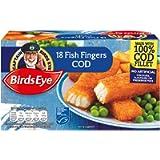 Birds Eye 18 Cod Fish Fingers, 504g (Frozen)