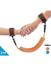 LifeKrafts Kid's Anti Lost Safety Wrist Link (Orange, 2 m); Children Wrist Chain, Anti Lost Chain