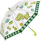 Idena 50049 - Parapluie pour garçons et filles, avec un joli motif de dinosaures sur plastique transparent, diamètre environ