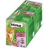 Kitekat kattenvoer natte voeding markt mix in gelei, 48 portiezakjes (2 x 24 x 100g)