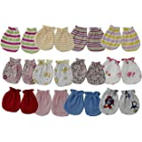 ShopCash Baby Multicolor Mitten (Pack of 12 Pairs) (Design & Color May Vary) Size Fits Upto 1 Year