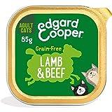 Edgard & Cooper Comida Humeda Gatos Adultos Natural Sin Cereales Esterilizados, Latas 19x85g Cordero y Ternera Frescos, Fácil