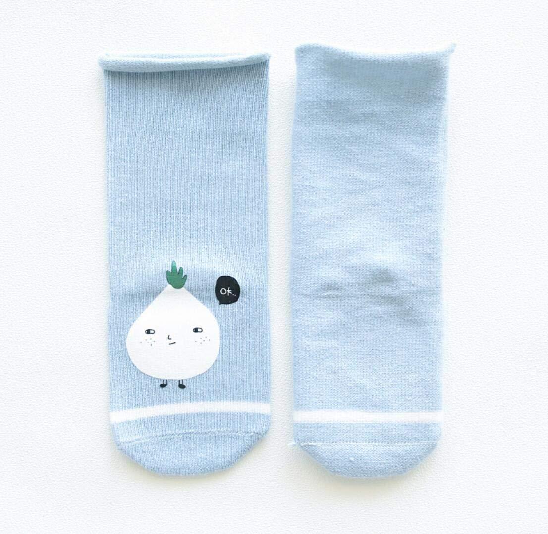 DEBAIJIA 3 Pares de Calcetines de Bebé Unisex Suave Elástico Calcetines Algodón Cálido Lindo Colorido Respirable… 3