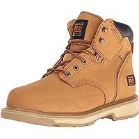 Timberland PRO - - Chaussure de sécurité Pit Boss en Acier pour Homme, 6 po, 46.5 EU, Wheat