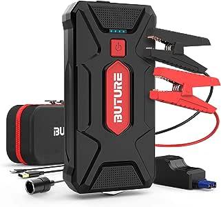BuTure Booster Batterie,1600A 20000mAh Portable Jump Starter (Jusqu'à 6.0L Essence/5.0L Gazole) Démarrage de Voiture avec Pinces intelligentes, Charge Rapide, Adaptateur Allume-Cigare EC5 (1600A)