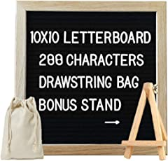 Toys Bhoomi Activity Play Easel Oak Wood Framed 10 x 10 inch Felt Puzzle Alphabet Learning Board with 288 letters+ Canvas Bag