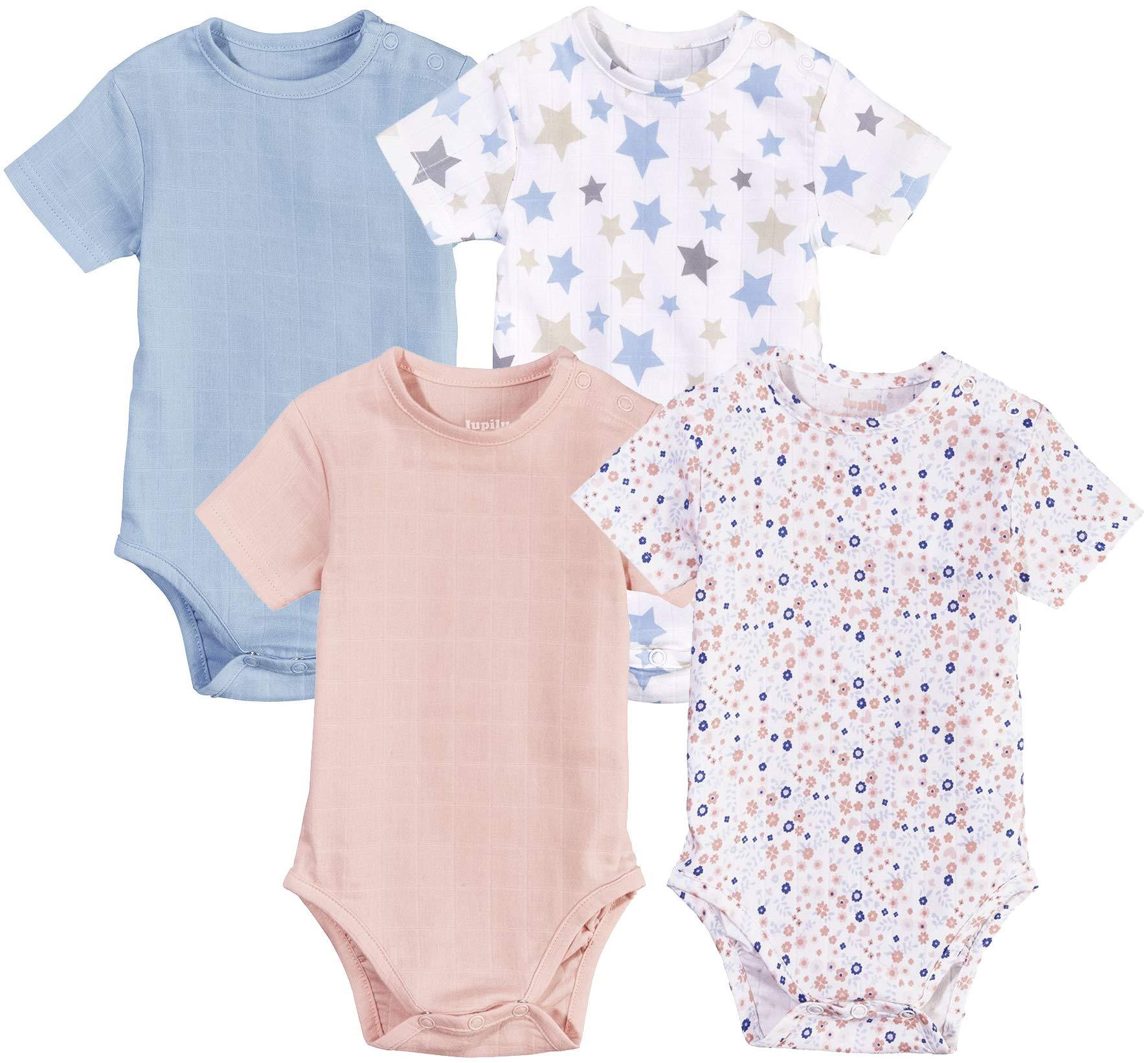 LUPILU PURE COLLECTION Baby Body, Kurzarm, Sommerbody Kurzarmbody aus Bio-Baumwolle