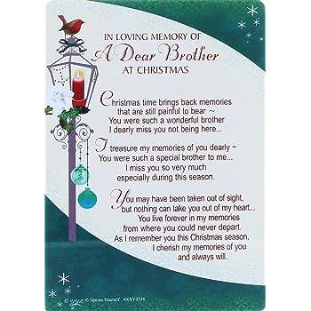 Grave Card IN LOVING MEMORY..MISSING YOU SO MUCH Sentimental Memorial Graveside