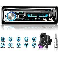 Autoradio Bluetooth USB, Lifelf Radio Voiture Récepteur avec Lecteur MP3 WMA FM Télécommande, Deux USB Port, Soutien iOS…