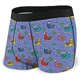 GLGFashion Men's Breathable Underwear Colorful Lama Funny Comfortable Boxer Briefs Slip Boxer da Uomo