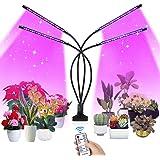 SUPCHON Växtlampa, 4 huvuden växtbelysning 40 W LED växtlampa med timer 4 H, 8 H, 12 H, RF-kontroll LED växtlampa 9 typer av