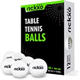 Rickxo Ping Pong Balls – 40+ Pro Abs – Pack of 12 – Ideal for Indoor and Outdoor Table Tennis