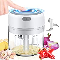 UMYMAYDO1 Mini Hachoir Electrique, 250ML Mini Mixeur bebe Portable avec 3 Lames, Mini Robot culinaire, Coupe oignon…