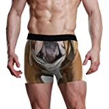 NaiiaN Slip da Uomo Bulge Pouch Stretch Boxer Trunk Dog Bulldog Inglese Aviator City