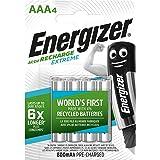 Energizer HR03 - Pack de 4 pilas recargables AAA, color negro