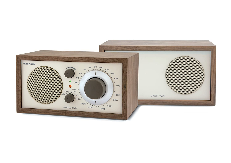 tivoli audio model two amfm stereo table radio walnutbeige amazoncouk tv - Tivoli Radio