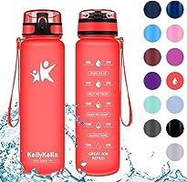 KollyKolla Trinkflasche - BPA-frei Auslaufsicher Sport Wasserflasche, 350/500/800ML/1L/1.5 Liter Tritan Sportflasche...