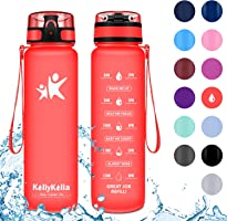 KollyKolla Botella Agua Sin BPA Deportes - 350ml/500ml/800ml/1L/1.5L, Reutilizables Ecológica Tritan, Bebidas Botellas...