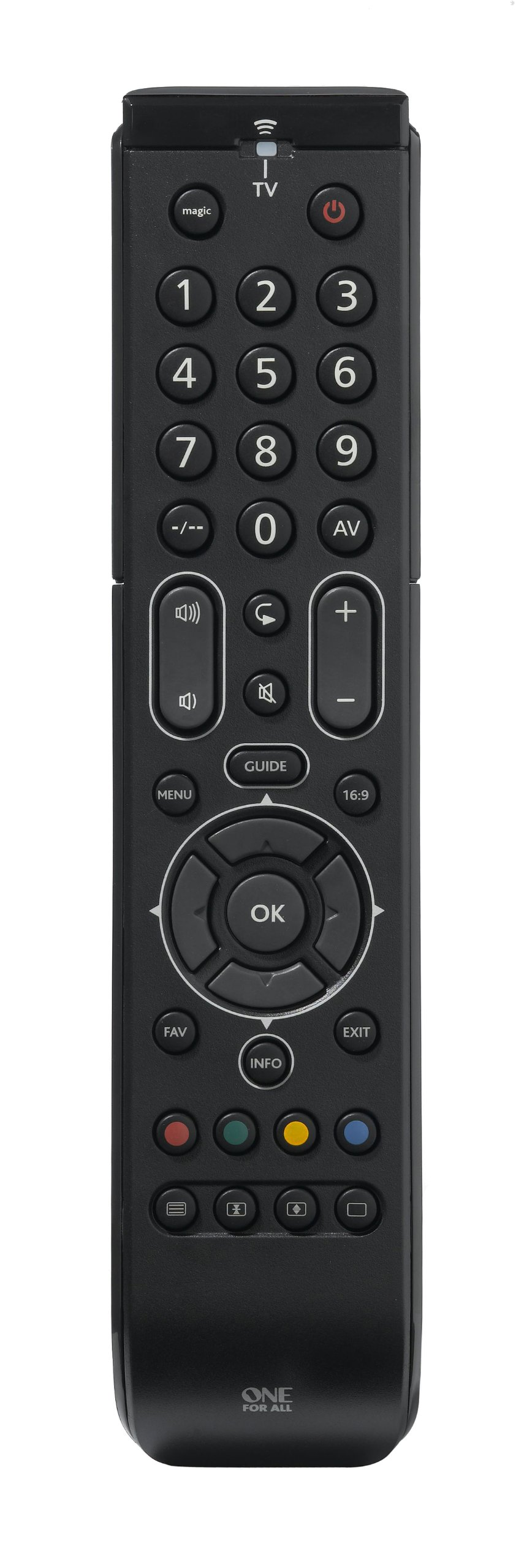 One For All Essence TV Universal remote control - Perfect TV replacement  remote for all types of Televisions (LED, LCD, Plasma) - Guaranteed to work
