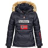 Geographical Norway BELANCOLIE Lady - Parka de Mujer cálida - Abrigo Capucha de Piel sintética - Chaqueta Invierno Acolchada