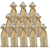 Irich Baumwolle Flaschenbeutel, 12 Stück Tragbarer Flaschenverpackung mit Kordelzug und Kraftpapier Etiketten für…
