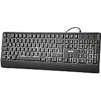 mafiti USB Tastatur, Kabelgebundene Tastatur mit Weißer LED Hintergrundbeleuchtung für PC/Laptop, Windows/macOS…