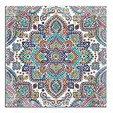 Cuadros Lifestyle Wandbild aus Holz | Holzbild | Shabby-Look | Landhaus | Mandala | Vintage | Geschenk, Größe:ca. 50x50 cm