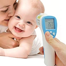 Supermall Non Contact Infrared Digital Thermometer for Using Checkup Baby and Adult Fever
