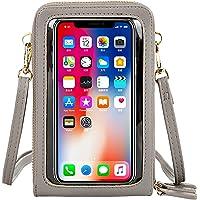 Fangoo Kleine Umhängetasche, Handytasche zum Umhängen Leder, Damen Touchscreen Tasche Handy Schultertasche 3…