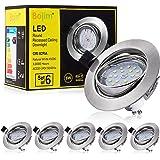 Bojim 6x Spot LED Encastrable Orientable GU10, Lampe de plafond Blanc du Jour Plafonnier Encastré 6W 600lm Equivalente de 54W