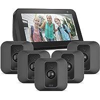 Blink XT2 System mit 5 Kameras + Echo Show 5, Schwarz, funktioniert mit Alexa