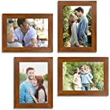 Art Street Wall Collage Photo Frame Timeline (Brown, Set of 4)||5X7 Inches.