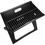 شواية فحم محمولة بتصميم دفتر ملاحظات للشواء من هوم، شواية مسطحة وقابلة للطي، موديل BD-BBQ-10، 45 × 30 سم