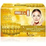 VLCC Gold Facial Kit + Free Rose Water Toner, 300gm + 100ml
