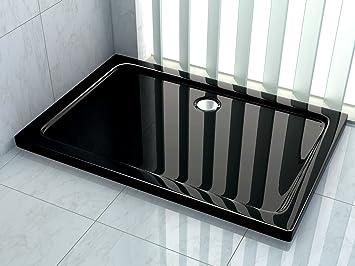 Duschwanne flach 120 x 90  50 mm Duschtasse 120 x 90 cm (schwarz): Amazon.de: Baumarkt