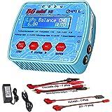 ZHITING Cargador LiPo 1-6S AC/DC Dual Power 80W 7A Digital B6Mini V2 RC Descargador de Equilibrio para Li-Ion Life NiCd NiMH