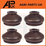 APUK 4 x Track Rod End Rubber Boot Compatible with Massey Ferguson TE20 TEA TED 20 135 165 290 Tractor