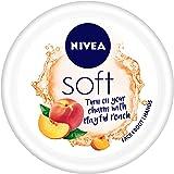 NIVEA Soft Light Moisturizer Cream, Playful Peach, with Vitamin E & Jojoba Oil for Face, Hands and Body 200 ml