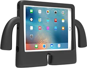 DMG iPad Air Cover for Kids, Shockproof Lightweight Protective Back Cover Stand Case for Apple iPad Air (Black Elephant)