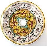 ILAB Piatto in ceramica ricambio per lampadario art.giulia, firmato e decorato a mano dai maestri ceramisti di santo stefano