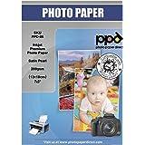 "PPD Inkjet - 5 x 7"" (aprox. 13 x 18 cm) x 100 Hojas de Papel Fotográfico 280 g/m² Satinado Perlado - Calidad Profesional - Se"