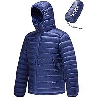 Lesmart Men Down Jacket Hooded Lightweight Waterproof Insulated Puffer Qulited Winter Warm Outwear Down Coat