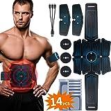 RIRGI Koiteck Electroestimulador Muscular Abdominales,Electroestimulador Muscular USB Recargable, 6 Modos y 10 Niveles de Int
