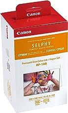 Canon Druckerkartusche RP-108 und Papier für Selphy CP Fotodrucker Serie