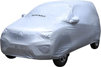 Amazon Brand - Solimo Renault Kwid Waterproof Car Cover (Silver)